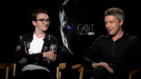 Game of Thrones: Aiden Gillen & Isaac Hempstead Wright