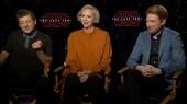 Star Wars The Last Jedi: Domnhall Gleeson, Andy Serkis & Gwendoline Christie