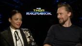 Thor Ragnarok: Tessa Thompson & Tom Hiddleston